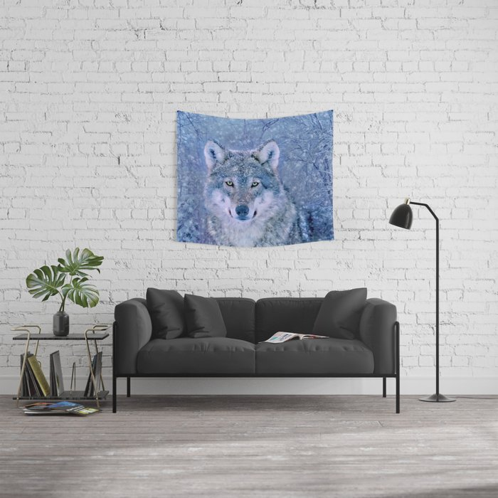 Winter Wolf Wall Tapestry