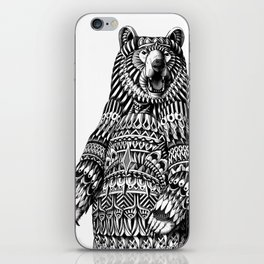 Ornate Grizzly Bear iPhone Skin