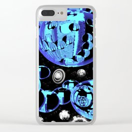 universe abstract 3d digital painting Clear iPhone Case