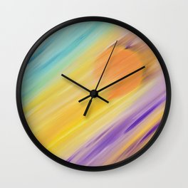 """""""Catch the Sun #1 – Sequel #1"""" Oil Painting Wall Clock"""