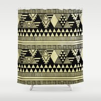 chic Shower Curtains featuring Ethnic Chic by Louise Machado