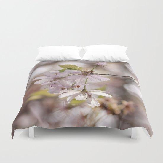 springblossoms at backlight Duvet Cover