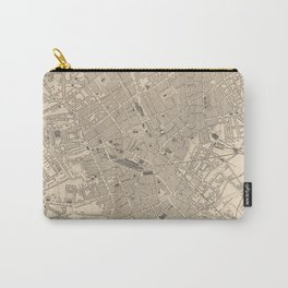 Vintage Map of Birmingham England (1851) Carry-All Pouch