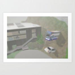 Woodwall Lake Buried Vehicles 1 Art Print