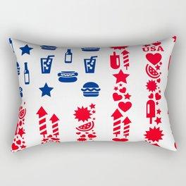 Fourth Of July Celebration USA Flag Rectangular Pillow