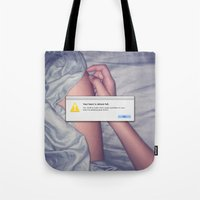 witchoria Tote Bags featuring Delete Past Lovers (OK)  by witchoria