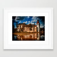 castle in the sky Framed Art Prints featuring Castle by DistinctyDesign