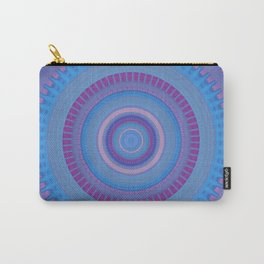 Electric Purple Blue Mandala Carry-All Pouch