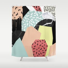 Thinking About Textures Shower Curtain
