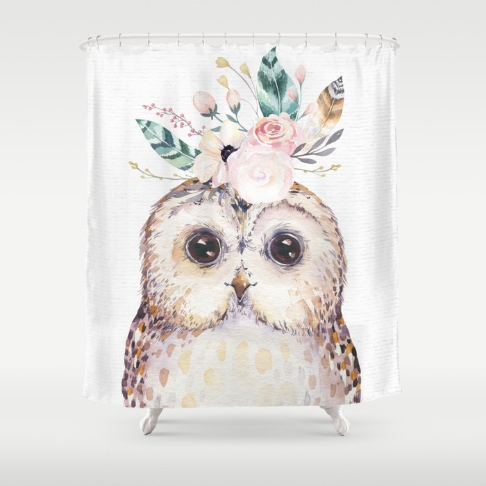 Forest Owl by Nature Magick Shower Curtain
