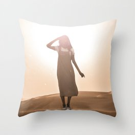 scorching heat Throw Pillow