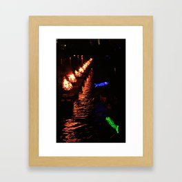 waterfire Framed Art Print