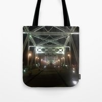 nashville Tote Bags featuring Nashville Nights by Anthony J. Newton Designs