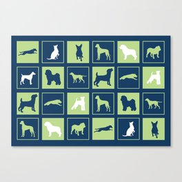 Dogs Squared Canvas Print