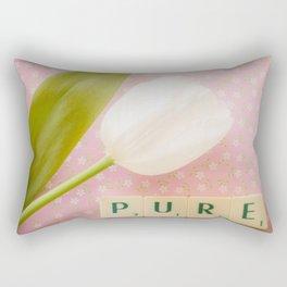 Pure - White Tulip Rectangular Pillow
