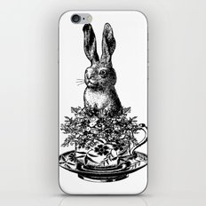 Rabbit in a Teacup | Black and White iPhone & iPod Skin