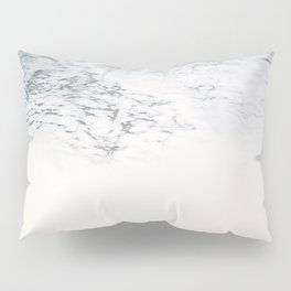 Sea foam - white and blue minimalistic photo of the ocean water Pillow Sham