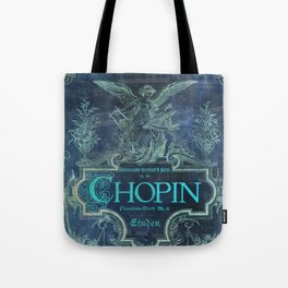 Frederick Chopin Blue Tote Bag