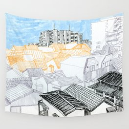Tokyo landscape Wall Tapestry