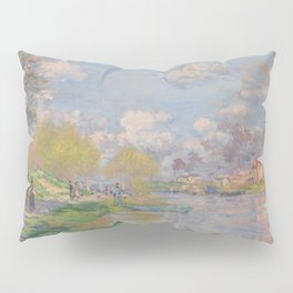 Spring by the Seine by Claude Monet Pillow Sham