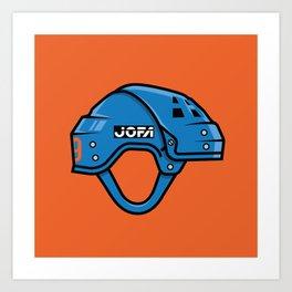 VM Helmet Art Print