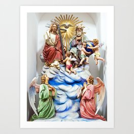 ANGELS - JESUS - GOD - SICILY - Church of THE GODFATHER - Forza d'Agro Art Print