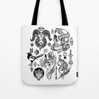 alchemy Tote Bags featuring Lesser Alchemy by Polkip