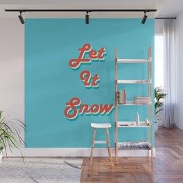 Retro Let it Snow Wall Mural