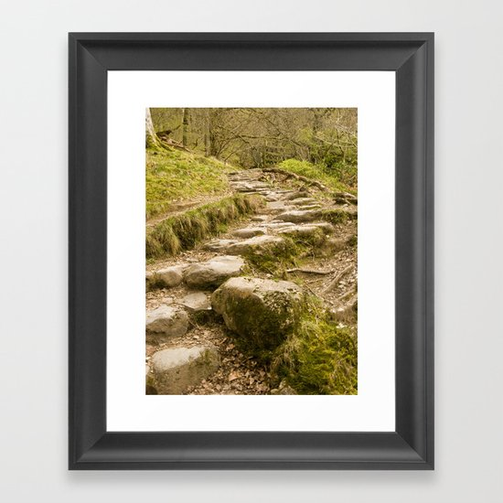 Stone path Framed Art Print