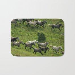 Running horses Bath Mat