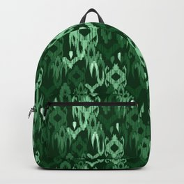 Weaving ikat in green Backpack