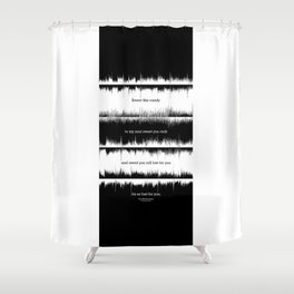 Lab No. 4 - Dave Mathews Band Crash into me Songs Waveform Lyrics Quotes Poster Shower Curtain
