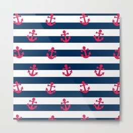 Sailor Stripes Metal Print