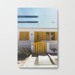 The Little Yellow House Metal Print
