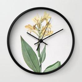 Vintage Water Canna Illustration Wall Clock