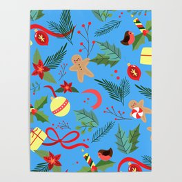 Christmas Pattern 10 Poster