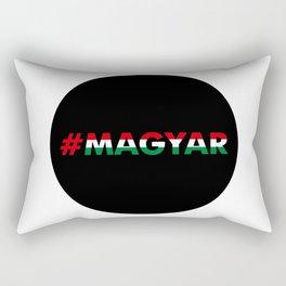 Hashtag Magyar, circle, black Rectangular Pillow