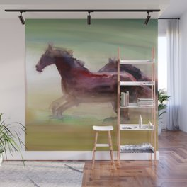 Running Horses Wall Mural