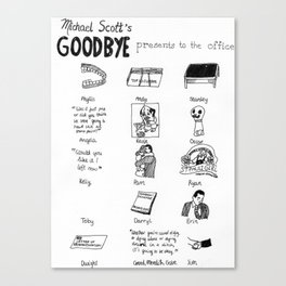 Michael Scott's Goodbye Presents to the Office Canvas Print