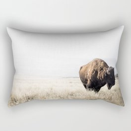 Bison stance Rectangular Pillow