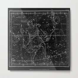Celestial Map print from 1822 Metal Print