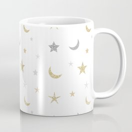 Gold and silver moon and star pattern Coffee Mug