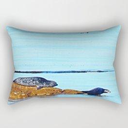 Seal, Pup and Eider Duck Rectangular Pillow