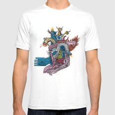 New god makina - Print available!! Mens Fitted Tee MEDIUM White