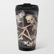 In Memoriam Skeleton  Metal Travel Mug