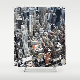 Built up Area Shower Curtain