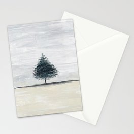 Lone tree in desert Stationery Cards