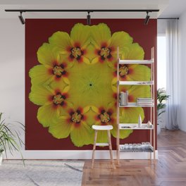 Round Of Hibiscus Wall Mural