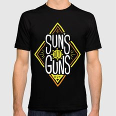 Sun's Out Guns Out Black Mens Fitted Tee MEDIUM