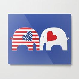 U.S.-Japan Friendship Elephants Metal Print